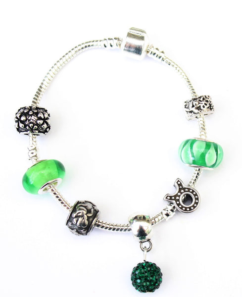 Taurus 'The Bull',  Zodiac Sign Silver Plated Charm Bracelet (Apr 20- May 20)
