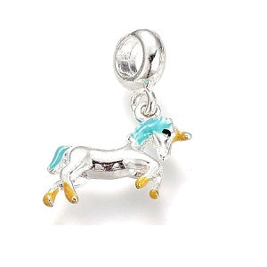 Alloy Enamel Unicorn Drop Charm