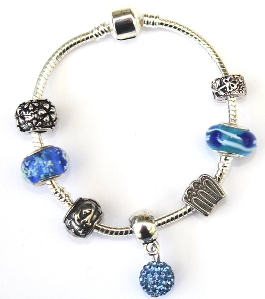 Virgo 'The Virgin',  Zodiac Sign Silver Plated Charm Bracelet (Aug 23- Sept 22)