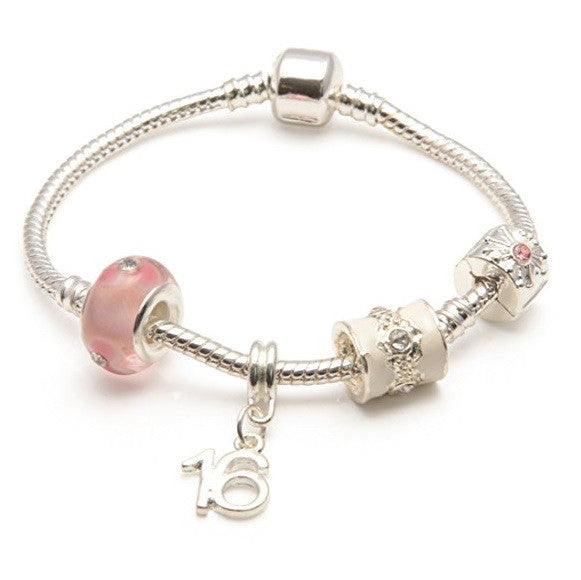 pink bracelet, 16th birthday gifts girl and charm bracelet gifts for 16 year old girl