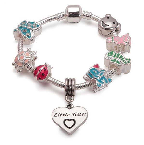 animals little sister bracelet with charms and beads