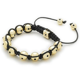 Designer Inspired 'Bellatrix' Gold Haematite Czech Crystal Disco Ball Shamballa Bracelet