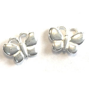 Children's Sterling Silver Butterfly Stud Earrings
