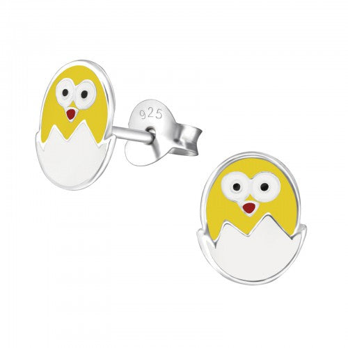 Children's Sterling Silver 'Easter Chick' Stud Earrings