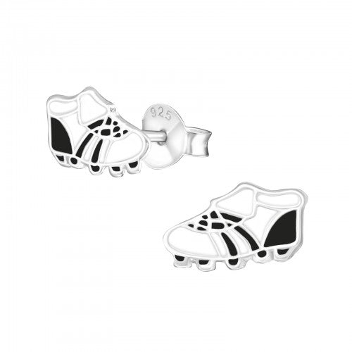 Children's Sterling Silver Football Boots Stud Earrings