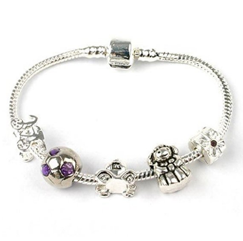 Teenager's 'Girls Can Do Better' Silver Plated Charm Bead Bracelet