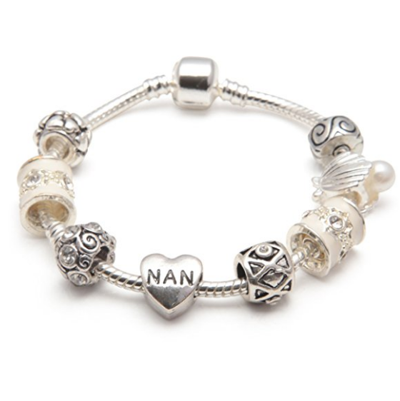 cream sliver nan bracelet and nan jewellery