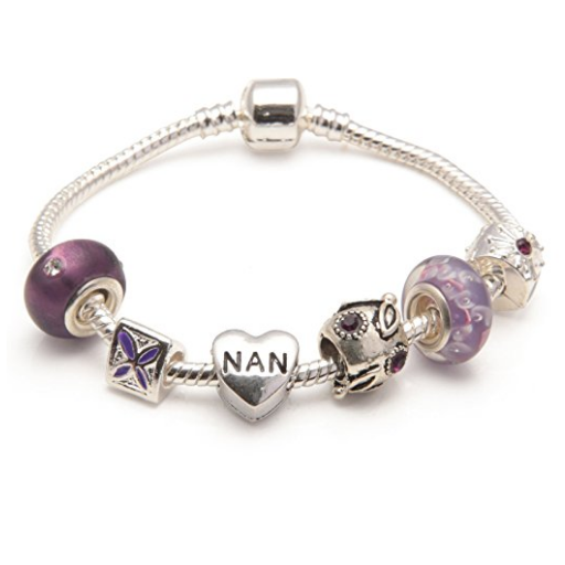 purple nan bracelet and nan jewellery