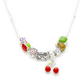 Children's Daughter 'Tutti Frutti' Silver Plated Charm Bead Necklace
