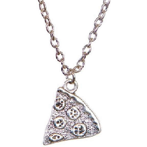 Children's Pizza Slice Pendant Silver Alloy Friendship Necklace