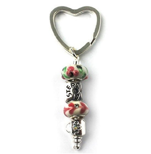 multi colour sisters keyring for sisters jewellery