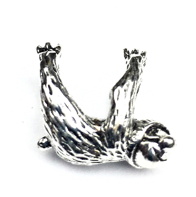 Silver Plated Sloth Charm