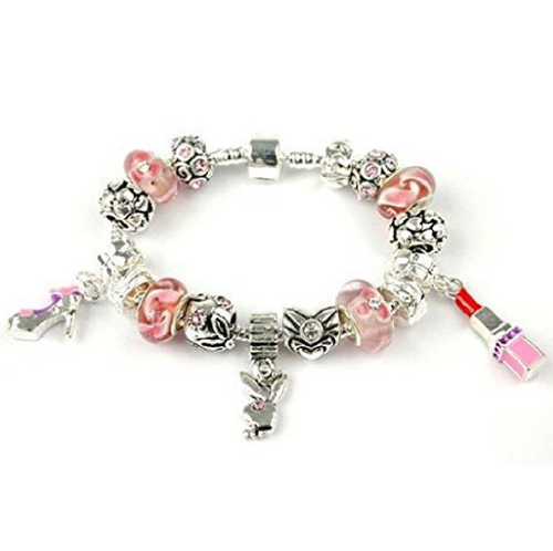 Teenager's/Tween's 'Bling-A-Ling' Silver Plated Charm Bead Bracelet