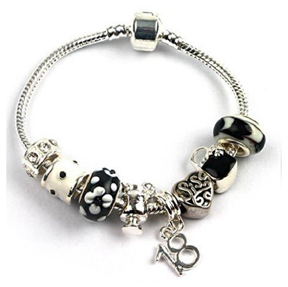 sisters 18 birthday sister bracelet with charms and beads