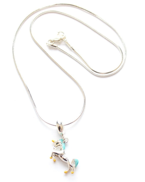 unicorn necklace gift with unicorn charm for girls