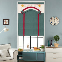 Quick Fix Washable Roman Window Shades Flat Fold with Valance, SG-016 Green Little Star
