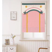 Quick Fix Washable Roman Window Shades Flat Fold with Valance, SG-017 Pink Little Star