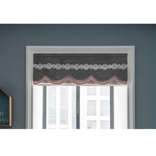 Valance,Custom Classic roman shade made, washable Three-dimensional flannelette flat and fold with cord, pink,SG-125