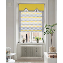 Valance,Classic roman shade, custom made, washable Cotton and linen fabric flat and fold with cord, gray,yellow,SG-076