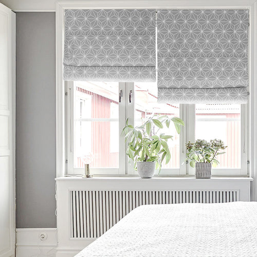 Quick Fix Washable Roman Window Shades Flat Fold, Electro