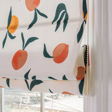Quick Fix Washable Roman Window Shades Flat Fold, Peach