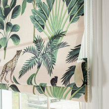 Quick Fix Washable Roman Window Shades Flat Fold, Deep in the Forest