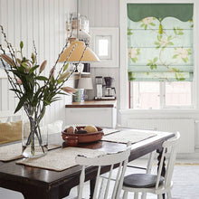 Valance,Custom Classic roman shade made, washable Cotton linen light green and fold with cord, SG-140