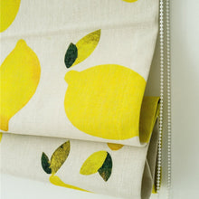 Quick Fix Washable Roman Window Shades Flat Fold, Lemon