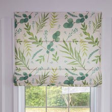 Quick Fix Washable Roman Window Shades Flat Fold, Dollar Leaves