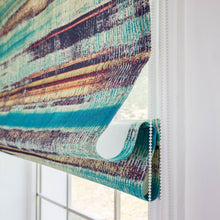 Quick Fix Washable Roman Window Shades Flat Fold, Spring Mountain Green