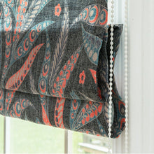 Quick Fix Washable Roman Window Shades Flat Fold, Leaf