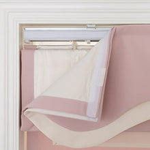 Quick Fix Washable Roman Window Shades Flat Fold with Valance, SG-011 Pink with White Trim