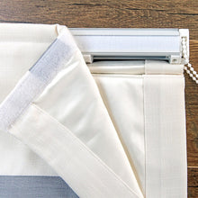 Quick Fix Washable Roman Window Shades Flat Fold with Valance, SG-021 Gray Ribbon