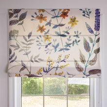 Quick Fix Washable Roman Window Shades Flat Fold, Purple Spring Flower