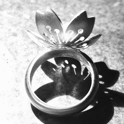 Sakura #3 Sterling Silver Ring
