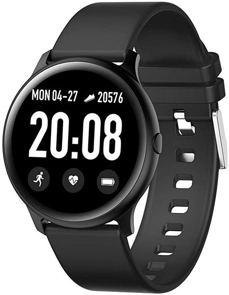 FOURFIT Signa 2 graphite round fitness tracker smart watch