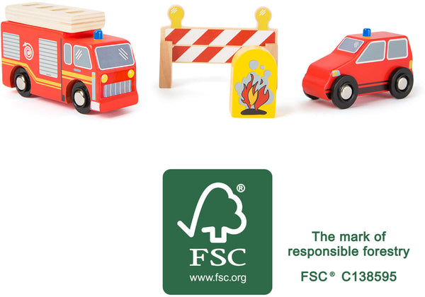 Wooden Fire Brigade Set
