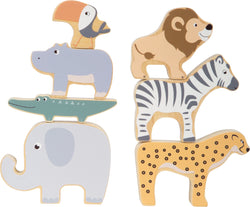 Wooden Safari Stacking Animals