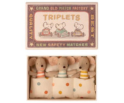 Maileg Baby Triplets Mice In A Matchbox