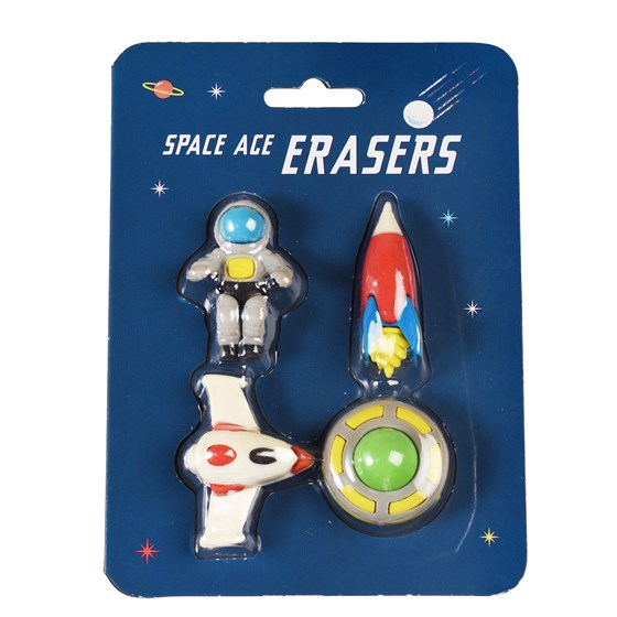 Space Age Erasers set of 4