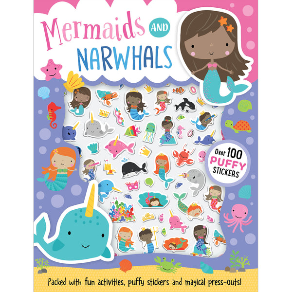 Mermaids & Narwhals Puffy Stickers