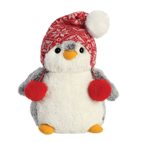 Pom Pom Penguin With Hat 9inc