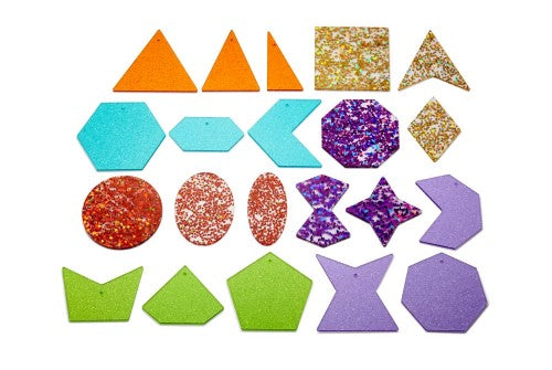 Rainbow Glitter Shapes Tickit