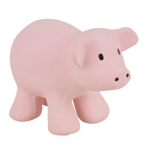Tikiri My 1st Tikiri Farm Pig – Natural Rubber Rattle and Bath Toys
