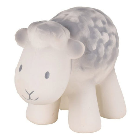 Tikiri My 1st Tikiri Farm Sheep – Natural Rubber Rattle and Bath Toys