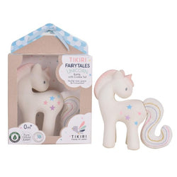 Tikiri Fairytale Collection – Cotton Candy Unicorn – Natural Rubber with Crinkle Tail