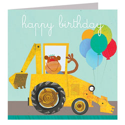 Monkey Digger Birthday Card