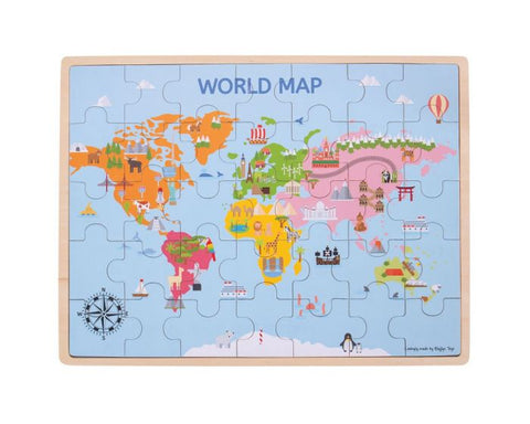 Bigjigs Wooden World Puzzle Map