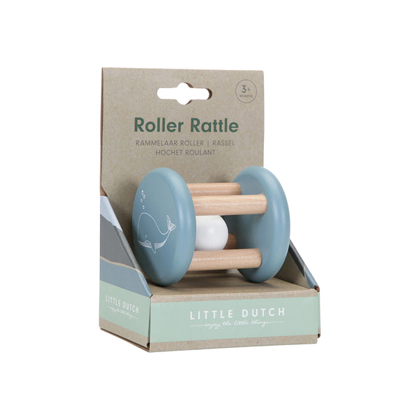 Little Dutch Blue Ocean Roller Rattle