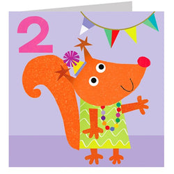 Age 2 Squirrel Card